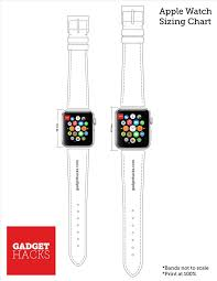 Font Size Chart Pdf Which Apple Watch Size Is Best For You Use Our Printable