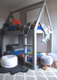 diy kids loft bed. Lovin\u0027 On These House Shaped DIY Bunk Beds! How Could Any Kid Not Love To  Hang Out In Their Room With This Bed? Great Tutorial Lots Of Photos. Diy Kids Loft Bed U