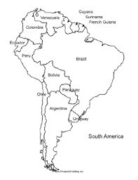 Blank Map Of South America Pdf Website With Photo Gallery With Blank