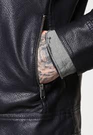 jack jones jconew tano faux leather jacket black men jack and jones jeans