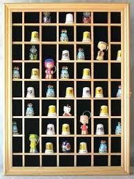 opening souvenir thimble small miniature display case cabinet rack holder glass door uk