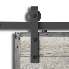 Decorating rustic sliding barn door hardware photographs : Colonial Elegance 1 78-3/4 in. x 37 in. Barn Sand Black Rail Steel ...