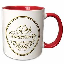 60th anniversary gift for celebrating wedding anniversaries coffee mug