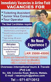 tour operator jobs vacancies in sri lanka top jobs topjobs best job site in sri lanka cv lk