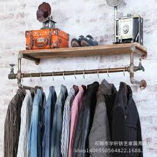 iron pipe wall faucet custom clothing rack shelf shelf display physical connector in storage holders racks from home garden on aliexpress com alibaba