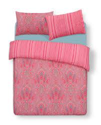 pink paisley print double duvet set