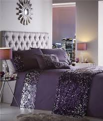 king size duvet set amethyst purple amp silver