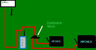 diagram for wiring capacitors to amps posted image