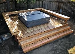 stunning backyard hot tub deck designs
