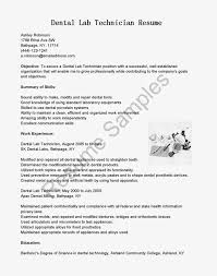 Gallery Of Resume Samples Dental Lab Technician Resume Sample