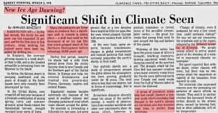 global warming or is it global cooling this blog examines the the florence times in 1973