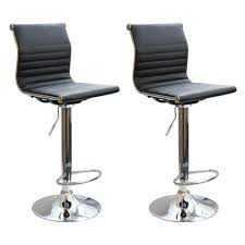 adjustable height chair. AmeriHome Adjustable Height Chrome Swivel Cushioned Bar Stool (Set Of 2) Chair W