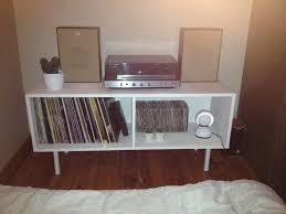 diy vinyl record storage cupboard