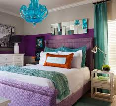 ... Purple And Turquoise Bedroom Ideas A Small But Bright Bedroom