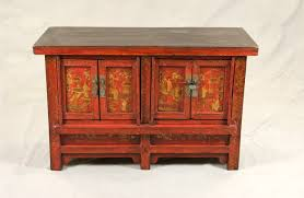 lacquered furniture. chinese red lacquered low cabinet with gold paintings furniture u