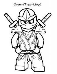 Ninjago Coloring Pages Green Ninja