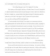 Essay Format Formatting Template Style Research Paper Apa