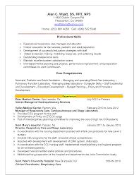 Resume Entry Level Respiratory Therapist Resume