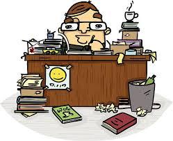 messy desk clipart. Wonderful Messy Messy Desk Vector Art Illustration Intended Clipart C