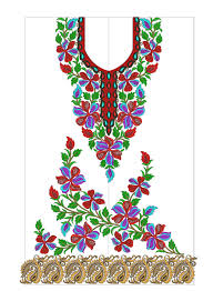 New Design Floral New Indian Embroidery Suit Floral Designs 3