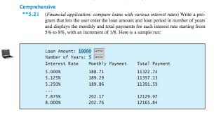 Solved 16 13 Compare Loans With Various Interest Rates