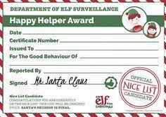 3 фразы в 2 тематиках. 14 Christmas Elf Certificates Ideas Christmas Elf Certificate Elf