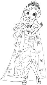 Coloring Pages Descendants 2 Coloring Pages Mal And Evie Free