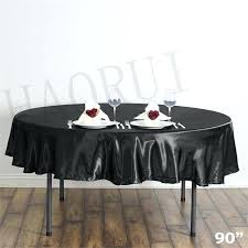 black round tablecloth customized black round dining table cloths satin tablecloths for wedding party decoration black