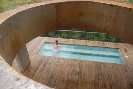 wood patio with pool. Stone Clad Panels For Fascinating Home Construction: Concrete Roof On Patio  Wood Floor Mini Rectangular · «« Wood Patio With Pool I