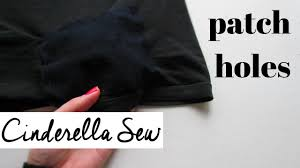 sew a patch over holes fix a hole in clothing with patches mend tears in clothes easy diy