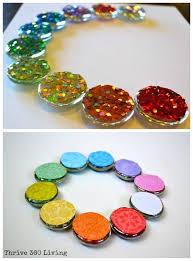 steps for making glitter gems magnets