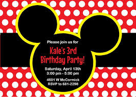 Mickey Mouse Birthday Party Invitations ...