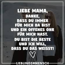 Liebe Mama Danke Dass Du Immer Für Mich Da Bist Und Ein Offenes