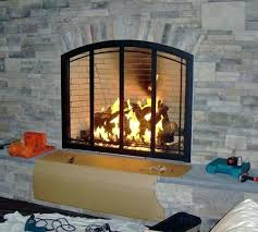 wood fireplace doors custom surrounds cleaning glass removing for burning with blower open or closed