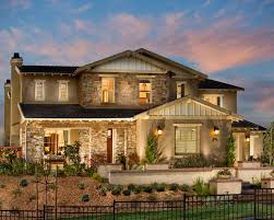 Unique Exterior House Design with Natural Stone Wall Decoration with  Stylish Lighting