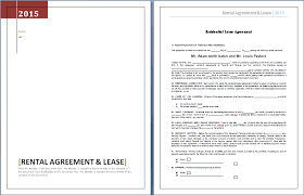 Rental Contract Template Word Rental Agreement And Lease Template Word Excel Templates