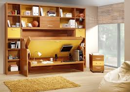 convertible furniture small spaces. Excellent Design Ideas Of Convertible Furniture For Small Spaces Fabulous With Brown Wooden Folding Bed And Computer. Best Interior Blogs.