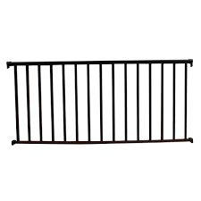 textured black aluminum baer railing kit