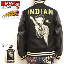 インディアンモトサイクルベティブープ indian motocyacle bbi 827 melton x leather award jacket black x