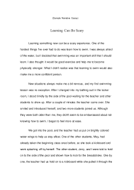scary narrative essay scare essay essay thesis statement example  a sample of a narrative essay sample narrative essay colleges sample narrative essay