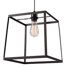 cage pendant lighting. Cube Black Large Metal Cage Pendant Lighting H