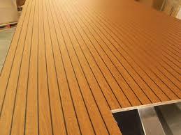 image of marine vinyl teak flooring for boats