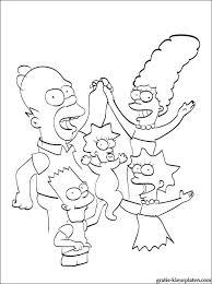 Verenigde Familie Simpsons Kleurplaat Gratis Kleurplaten