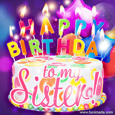 happy birthday to my sister colorful