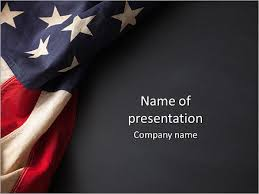 Vintage American Flag On A Chalkboard With Space For Text Powerpoint Template Infographics Slides
