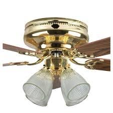 polished brass ceiling fan
