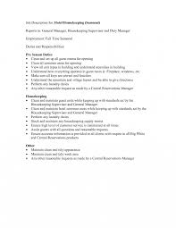 How To Make A Resume For Hotel Job Housekeeping Resume Objective Statement Branch Manager Throughout 23