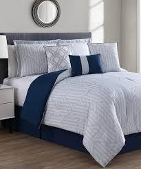 navy heather seven piece comforter set