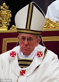 Image result for POPE FRANCIS EVIL  LOOK