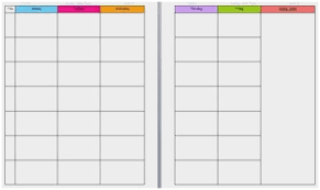 Teacher Weekly Planners Weekly Lesson Plan Templates For Elementary Teachers Astonishing